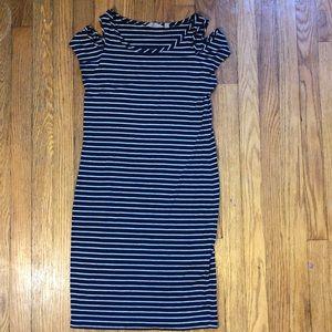 Athleta Dresses - Athlete Cold Shoudler Tee Shirt Dress